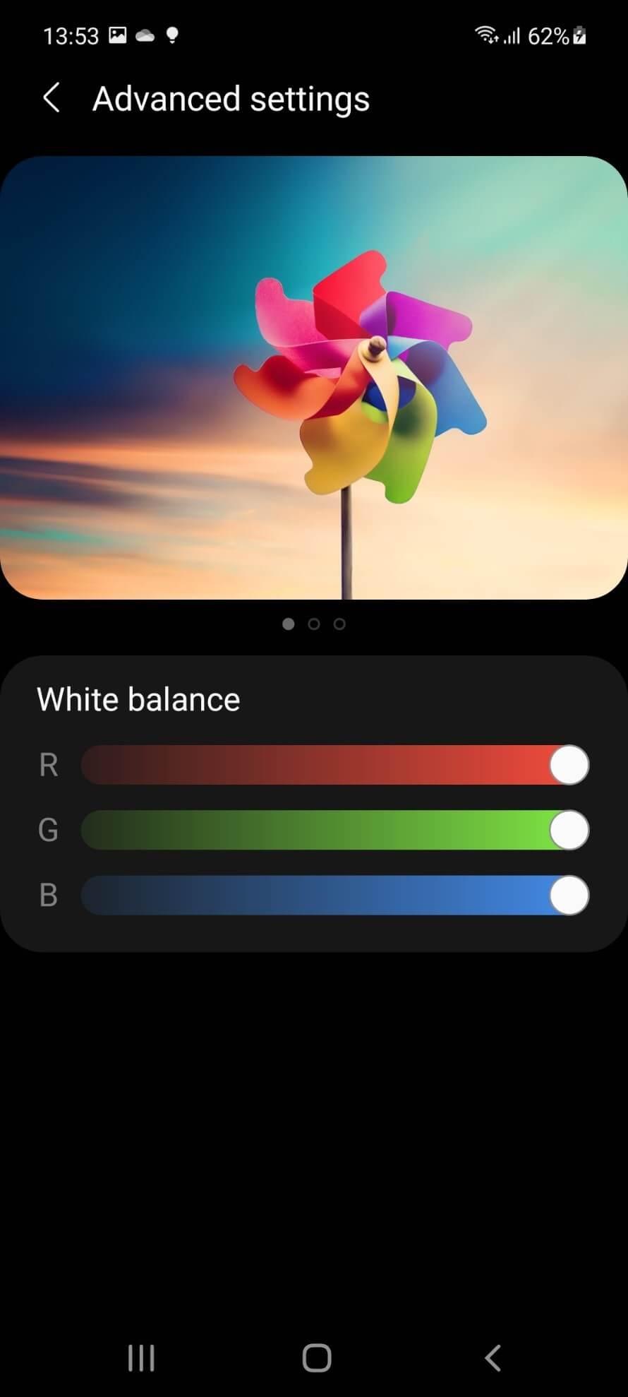 رنگهای DCI-P3 در گلکسی A52s 5G