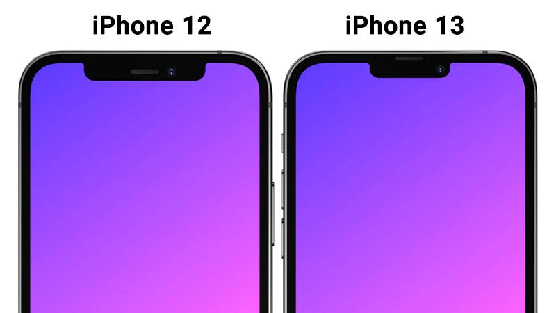 مقایسه صفحه نمایش آیفون 13 و آیفون 12