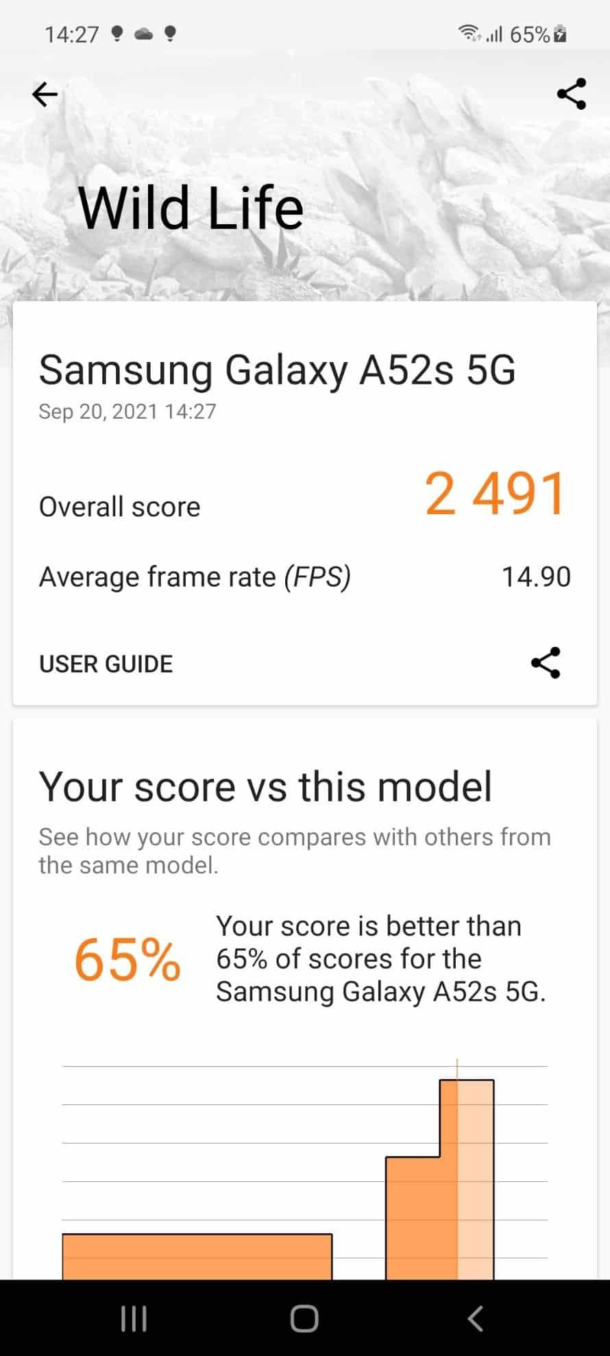 3d mark benchmark a52s 5g