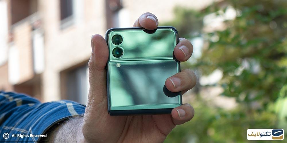 گوشی z flip 3 سبز