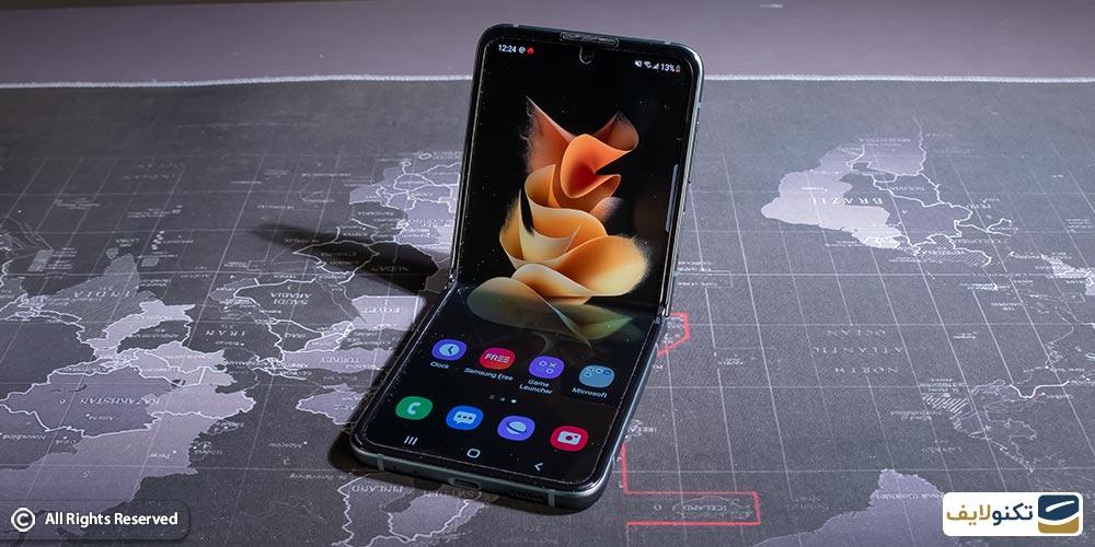 گوشی تاشو جدید سامسونگ Galaxy z flip 3