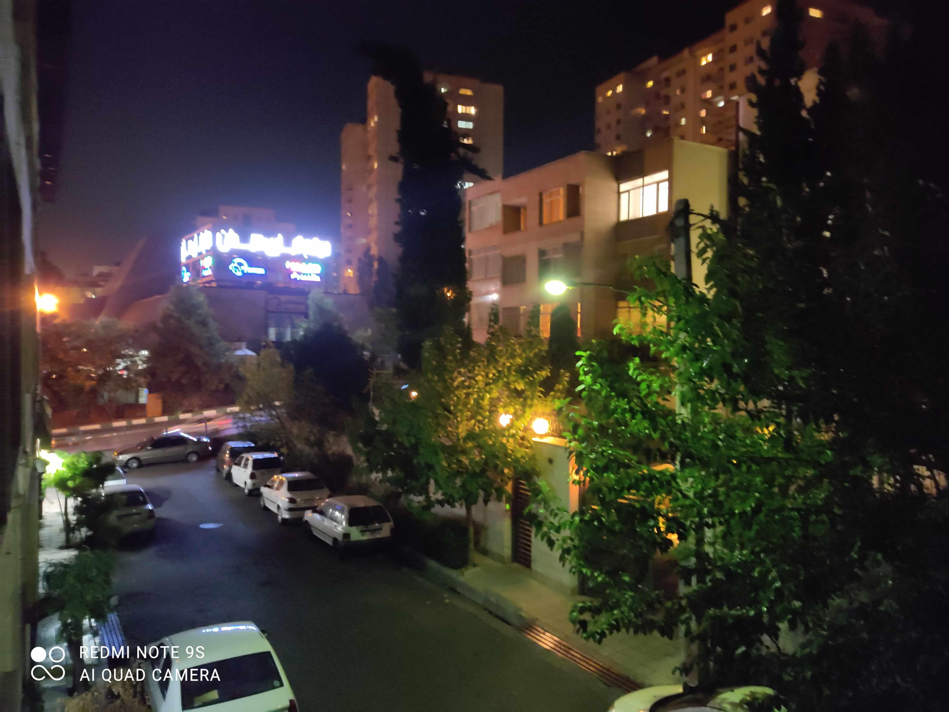 کیفیت عکاسی در شب با شیائومی نوت 9 اس