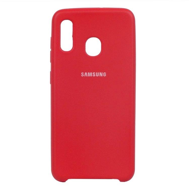 قاب محافظ سیلیکونی سامسونگ Galaxy A20/A30 مدل Silicone Case