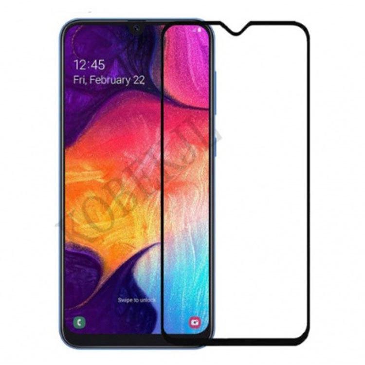 محافظ صفحه نمایش شیشه ای تمام چسب سامسونگ  Galaxy A20/A30مدل Full Glue Glass