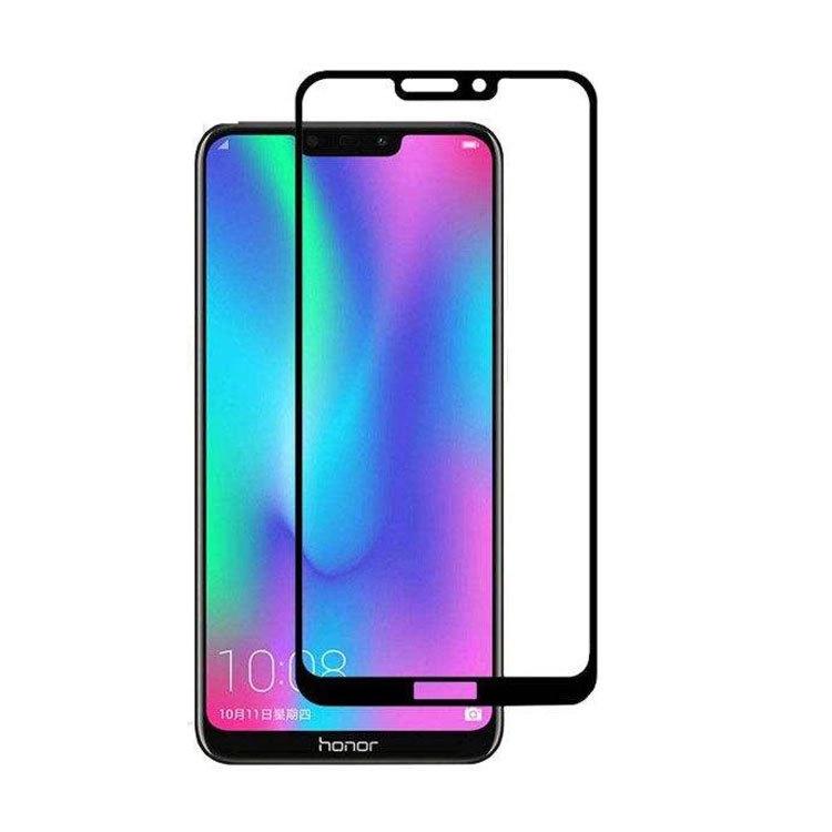 محافظ صفحه شیشه ای تمام چسب گوشی Honor 8c