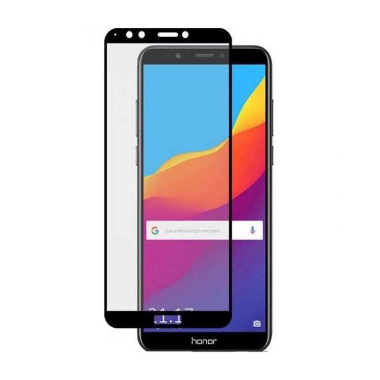 محافظ صفحه شیشه ای تمام چسب گوشی Honor 7A/Y6 2018