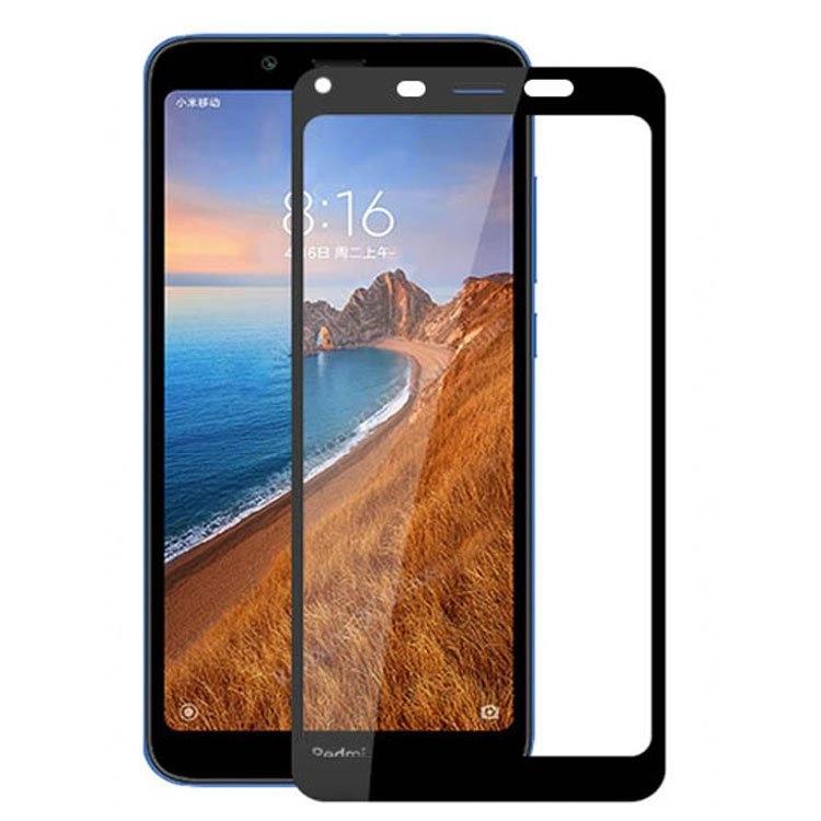 محافظ صفحه شیشه ای تمام چسب گوشی Xiaomi Redmi 7A
