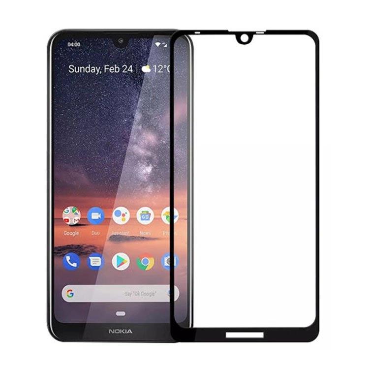 محافظ صفحه شیشه ای تمام چسب گوشی Nokia 3.2
