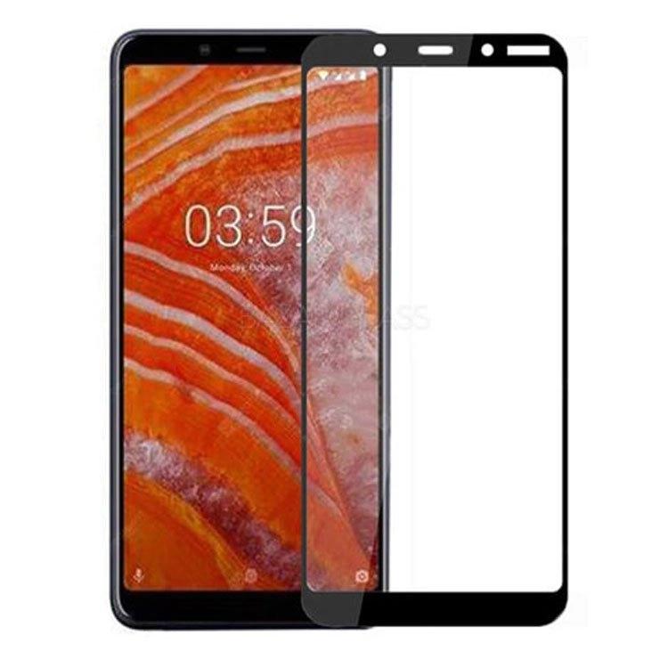 محافظ صفحه شیشه ای تمام چسب  گوشی Nokia 3.1 plus