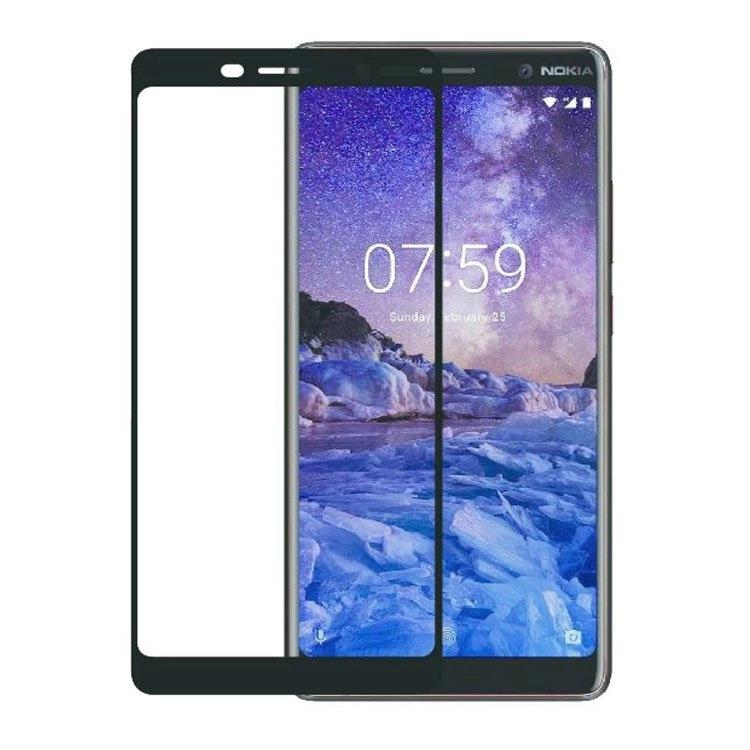 محافظ صفحه شیشه ای تمام چسب گوشی Nokia 7 plus