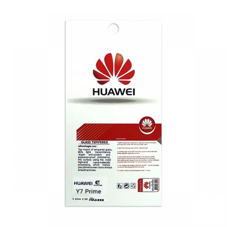 محافظ صفحه شیشه ای تخت (گلس) گوشی Huawei y7 prime مارک TESLA