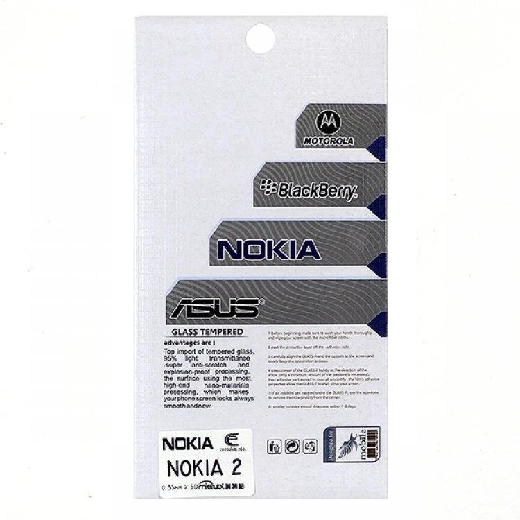 محافظ صفحه شيشهای تخت (گلس) گوشی Nokia 2 مارک TESLA