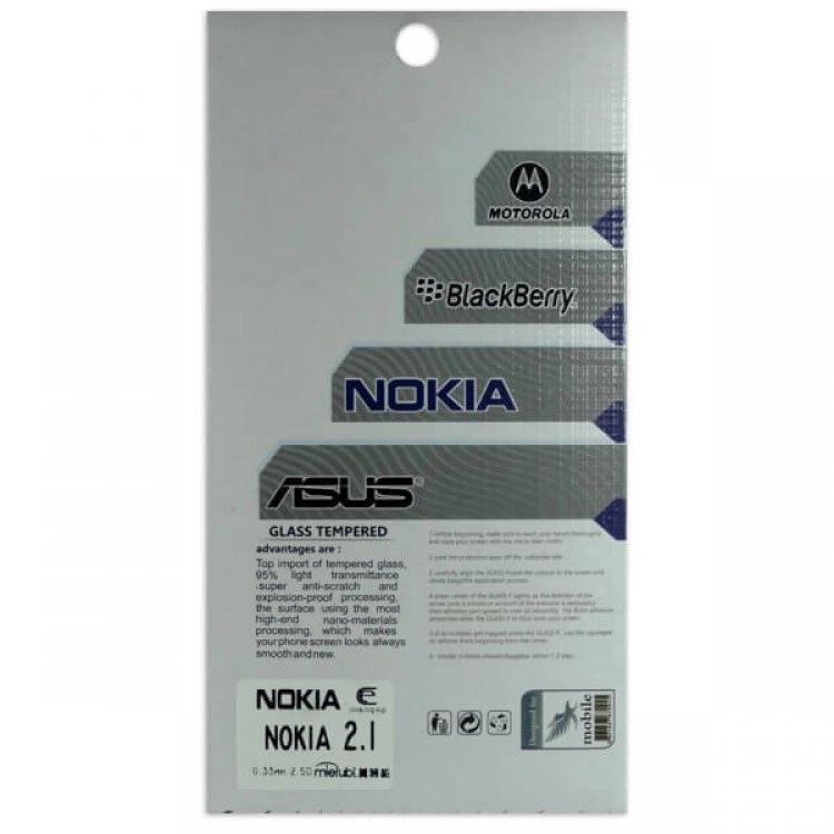 محافظ صفحه شيشهای تخت (گلس) گوشی Nokia 2.1 مارک TESLA