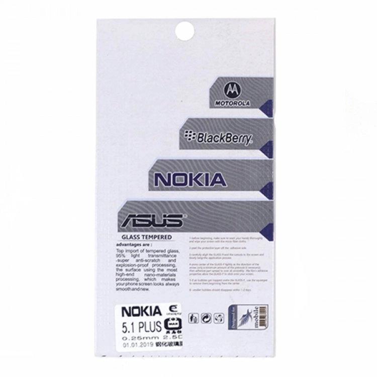 محافظ صفحه شيشهای تخت (گلس) گوشی Nokia 5.1 Plus مارک TESL