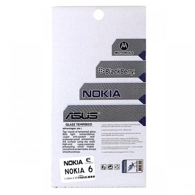 محافظ صفحه شيشهای تخت (گلس) گوشی Nokia 6 مارک TESLA