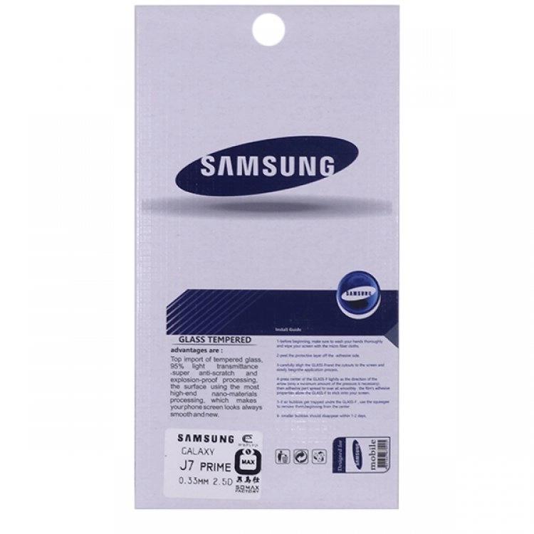 محافظ صفحه شيشهای تخت (گلس) گوشی سامسونگ Galaxy J7 Prime مارک TESLA