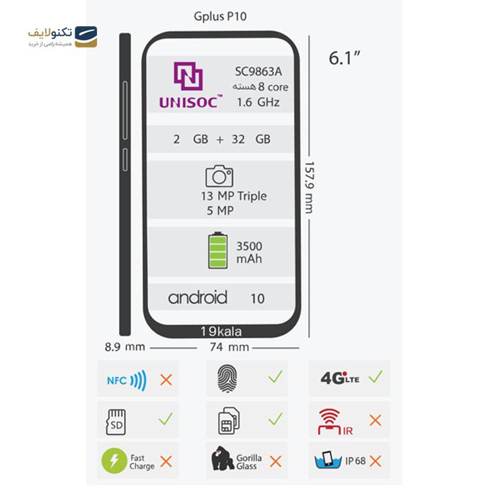 gallery-گوشی موبایل جی پلاس مدل P10 دو سیم کارت ظرفیت 32 گیگابایت - رم 2 گیگابایت-gallery-3-TLP-2573_d862912b-b71d-4dfd-95c8-3fa947e4b7a4.png