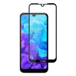 محافظ صفحه شیشه ای تمام چسب گوشی Huawei Y5 2019