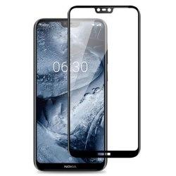 محافظ صفحه شیشه ای تمام چسب گوشی Nokia 6.1 plus