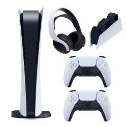 مجموعه کنسول بازی سونی مدل PlayStation 5 Digital ظرفیت 825 گیگابایت به همراه هدست و پایه شارژر