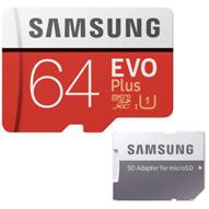 کارت حافظه microSDXC سامسونگ مدل Evo Plus کلاس 10 - ظرفیت 64 گیگابایت به همراه آداپتور SD