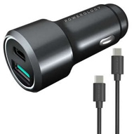 شارژر فندکی پاورولوجی مدل PQCPDCCCBK به همراه کابل USB-C