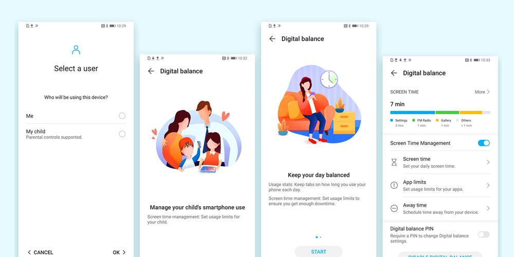 رابط کاربری و اندروید گوشی موبایل آنر 9A