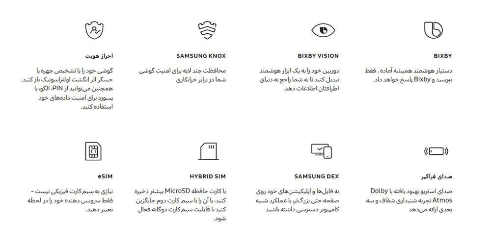 ویژگی های گوشی اس 20 الترا