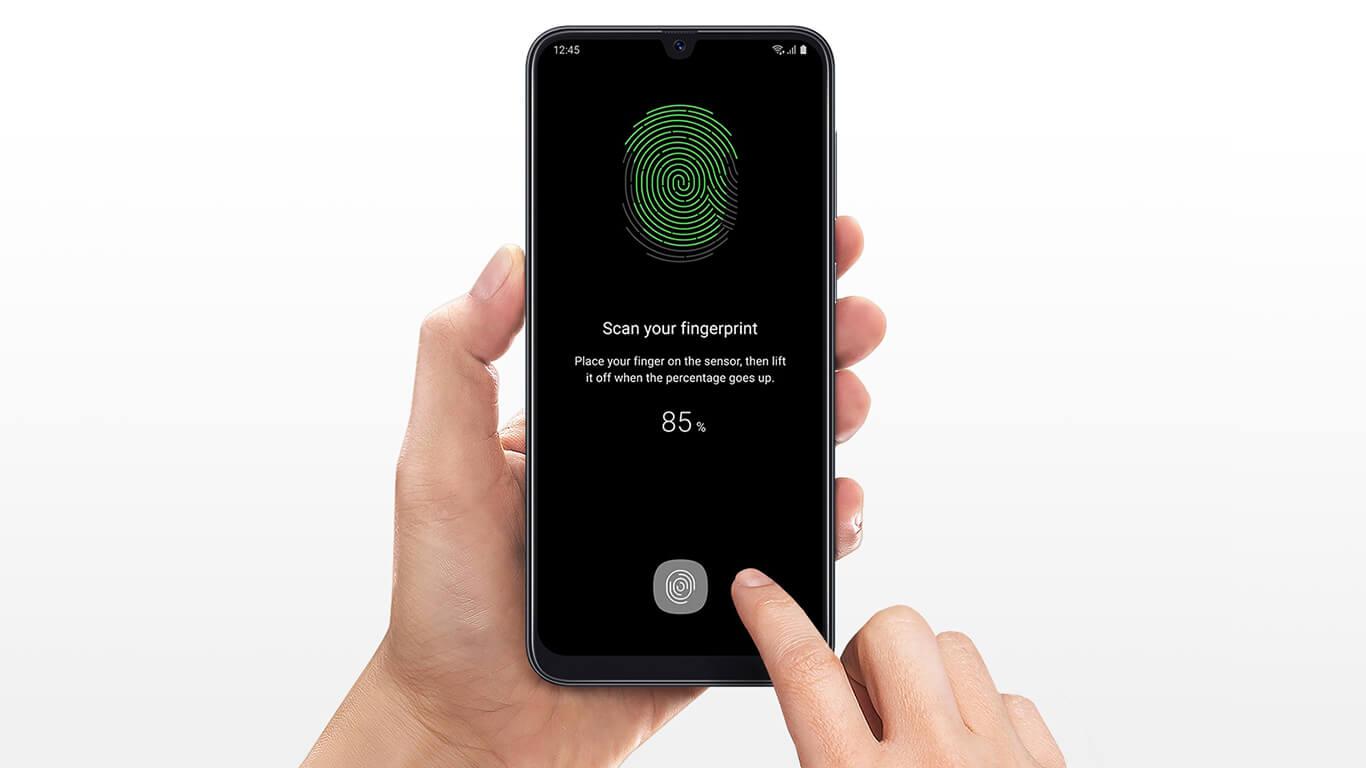 سنسور اثر انگشت گوشی a50