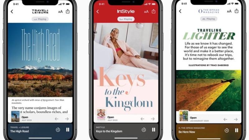 استفاده از داستانهای صوتی Apple News+